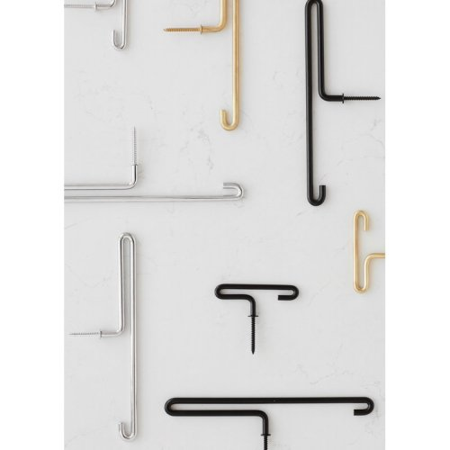 Moebe wall hook small x2 brass