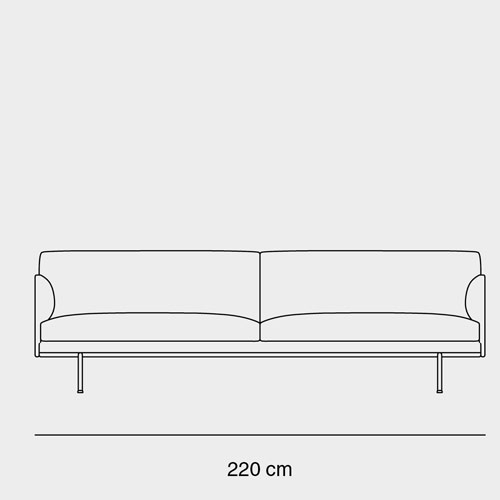 Muuto Outline Sofa 3,5 seater