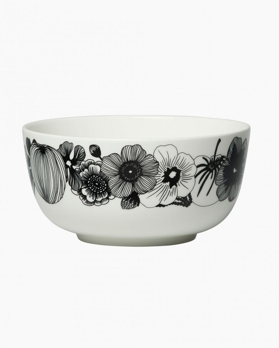Marimekko Siirtolapuutarha bowl 9 dl white black