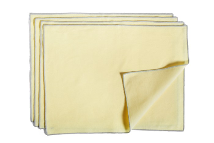 Hay Contour Placemat set of 4 Lemon