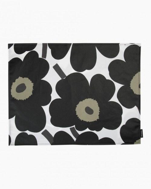 Marimekko Acryl Cotton Placemat Unikko Black