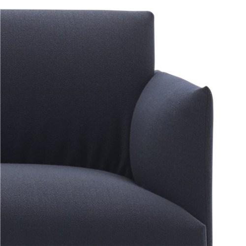 Muuto Outline Sofa 3 seater vidar 554 - Black Base