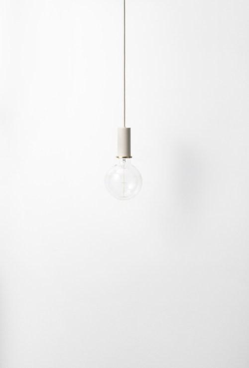 Ferm Living Socket Pendant Low Light Grey