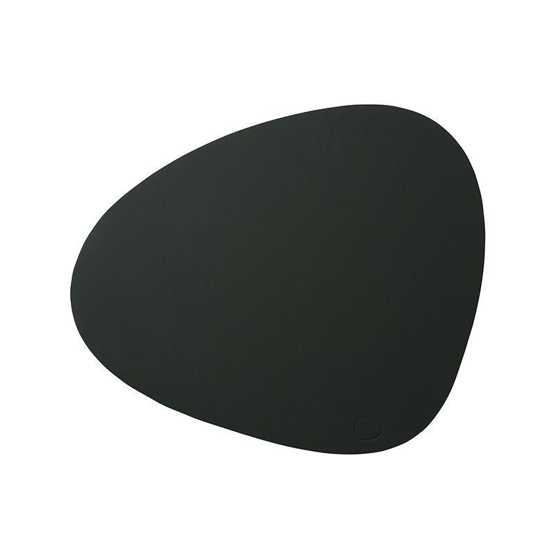 Placemat curve soft buck darkgreen