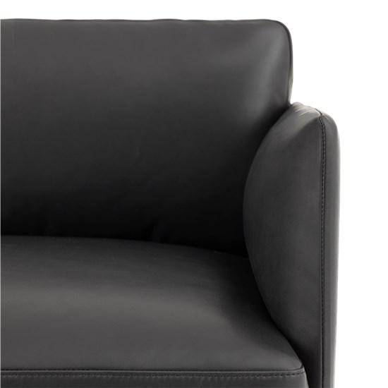 Muuto Outline Sofa 3 seater Refine Leather Black - Black Base