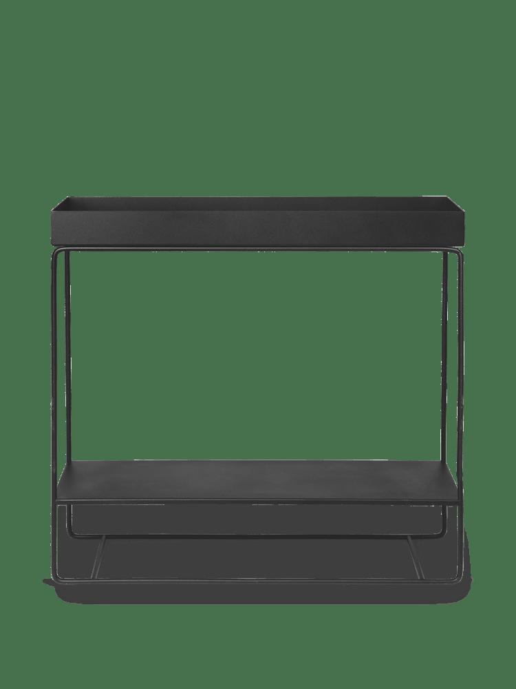 Plant box two-tier black