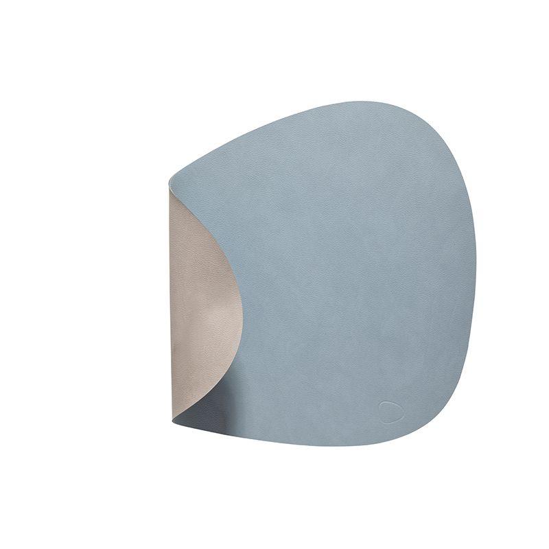 Placemat curve double lightblue/ lightgrey