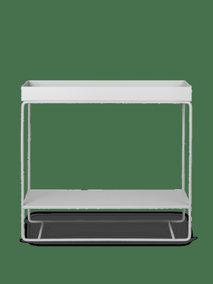 Plant box two-tier light grey