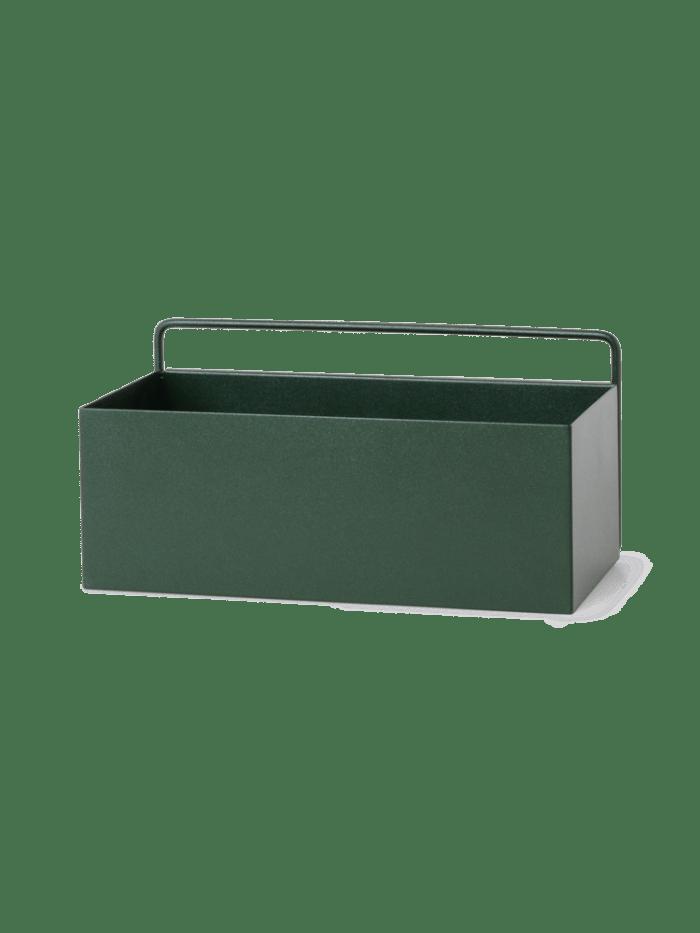 Wall box rectangle dark green