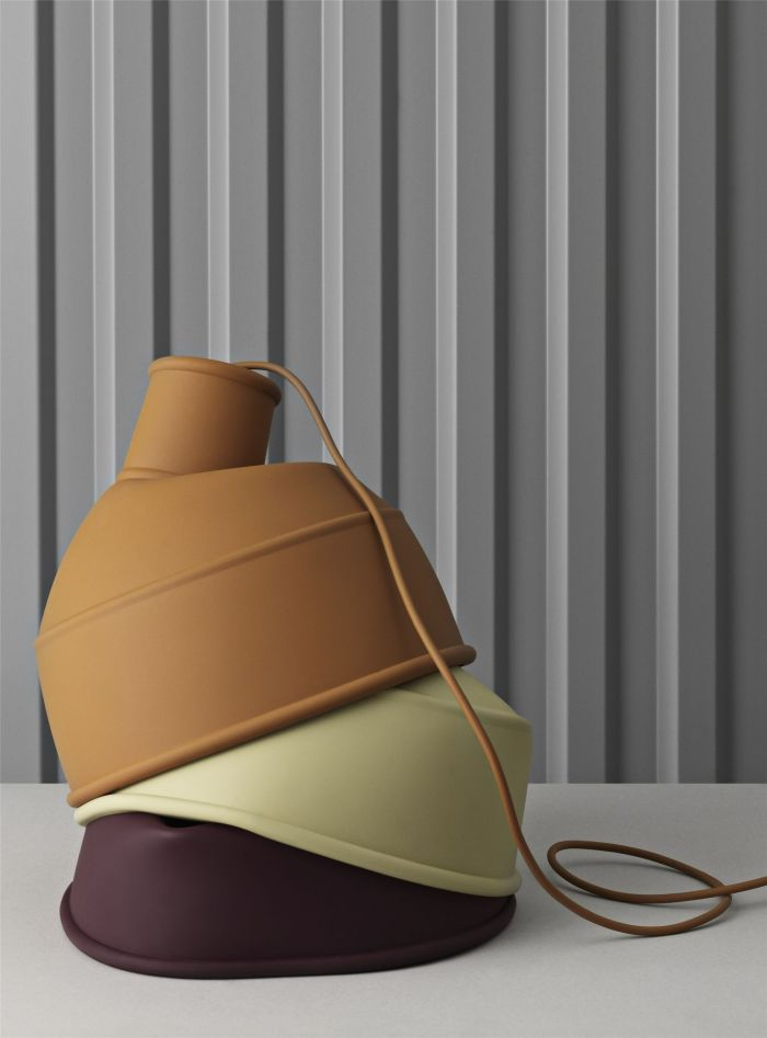 Unfold pedant lamp clay brown