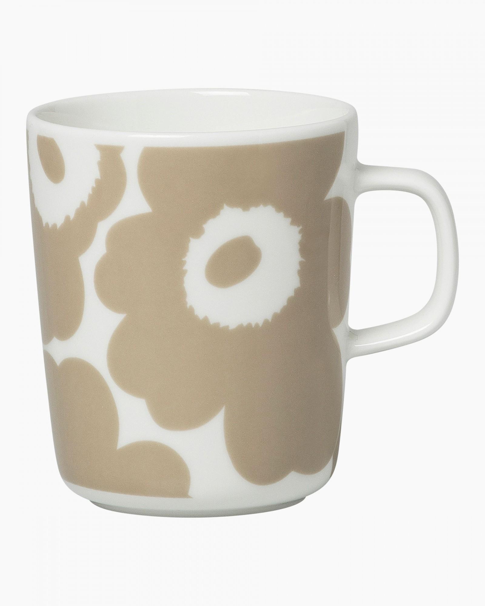 Oiva/Unikko mug 2,5dl beige/white