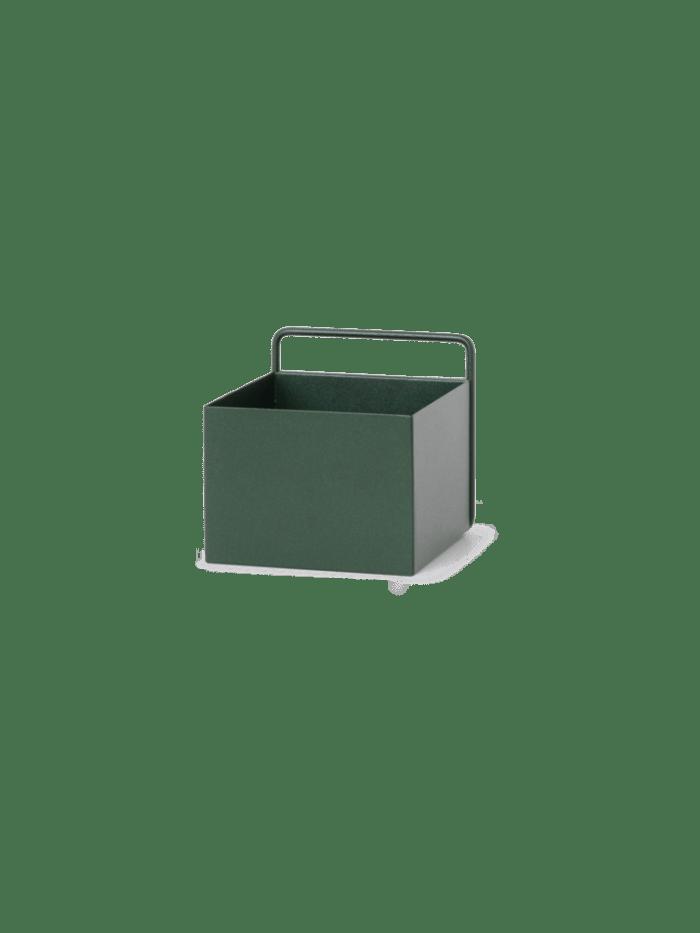 Wall box square dark green