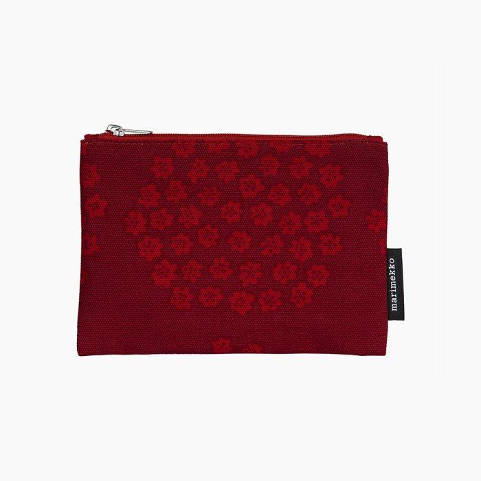 Kaika Puketti pouch dark red/red/pink