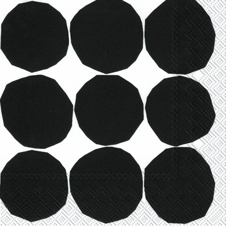 Kivet black/white lunch napkin