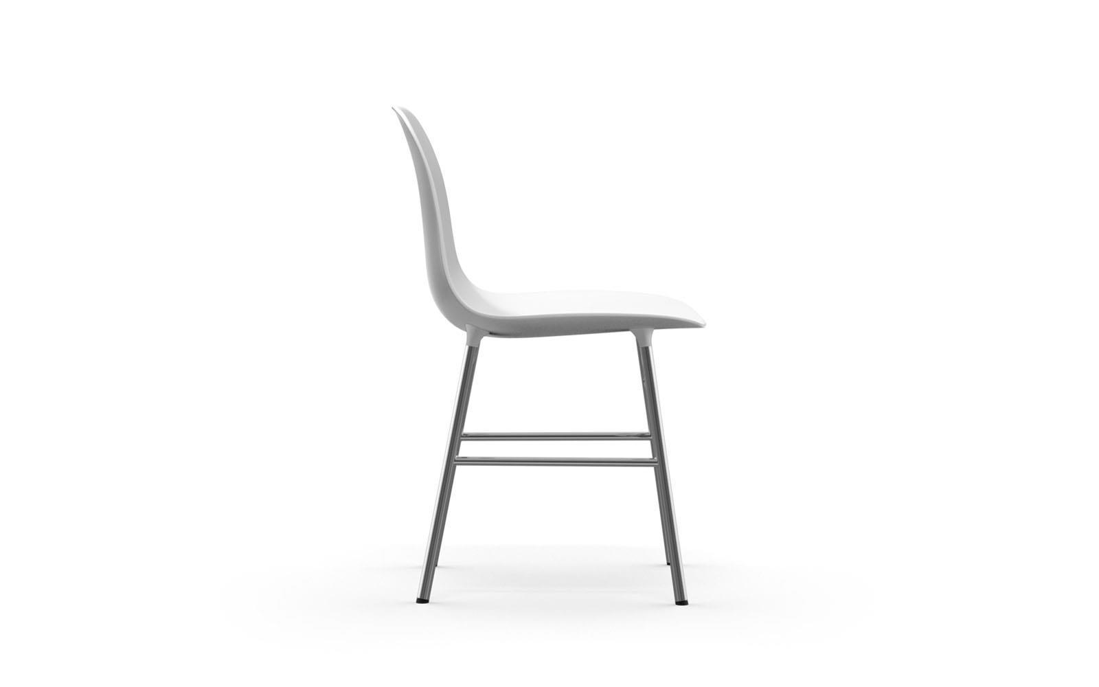 Normann CPH Form Chair Chrome gestoffeerd