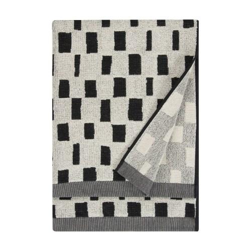 Iso noppa bath towel 70x150 white/black