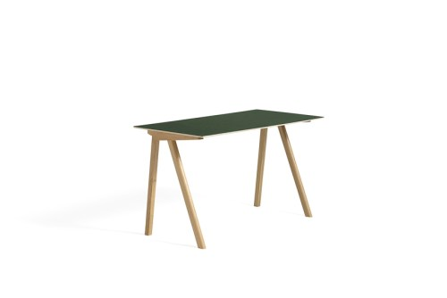 CPH 90 Desk Green Linoleum Clear Lacquered