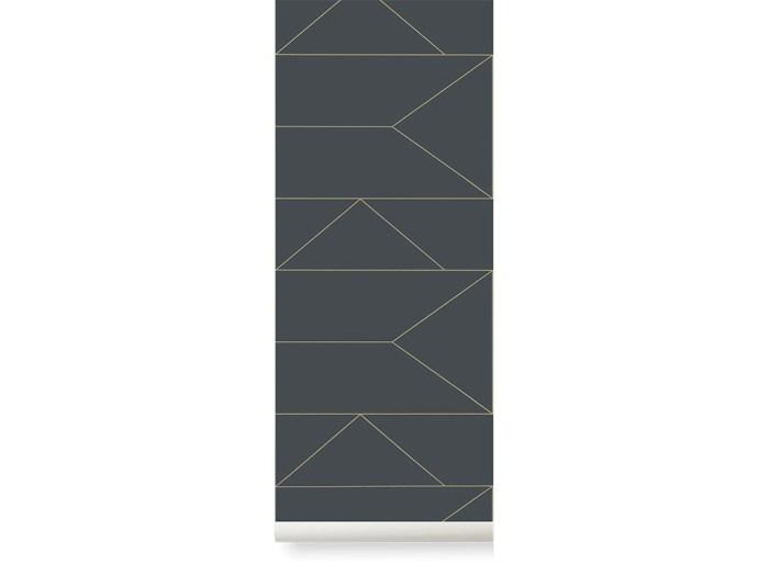 Ferm Living Wallpaper Lines Graphite