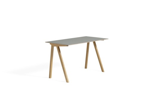 Hay CPH 90 Desk Grey Linoleum Clear Lacquered