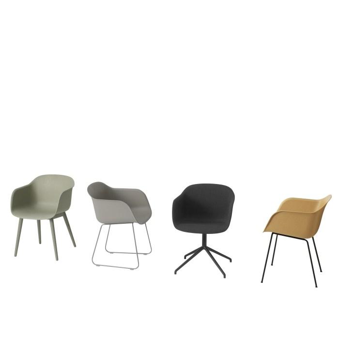 Muuto Fiber Armchair Wood Base Grey/Grey