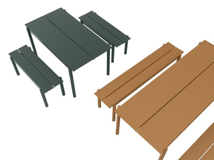 Muuto Linear Steel Table 140 Dark Green