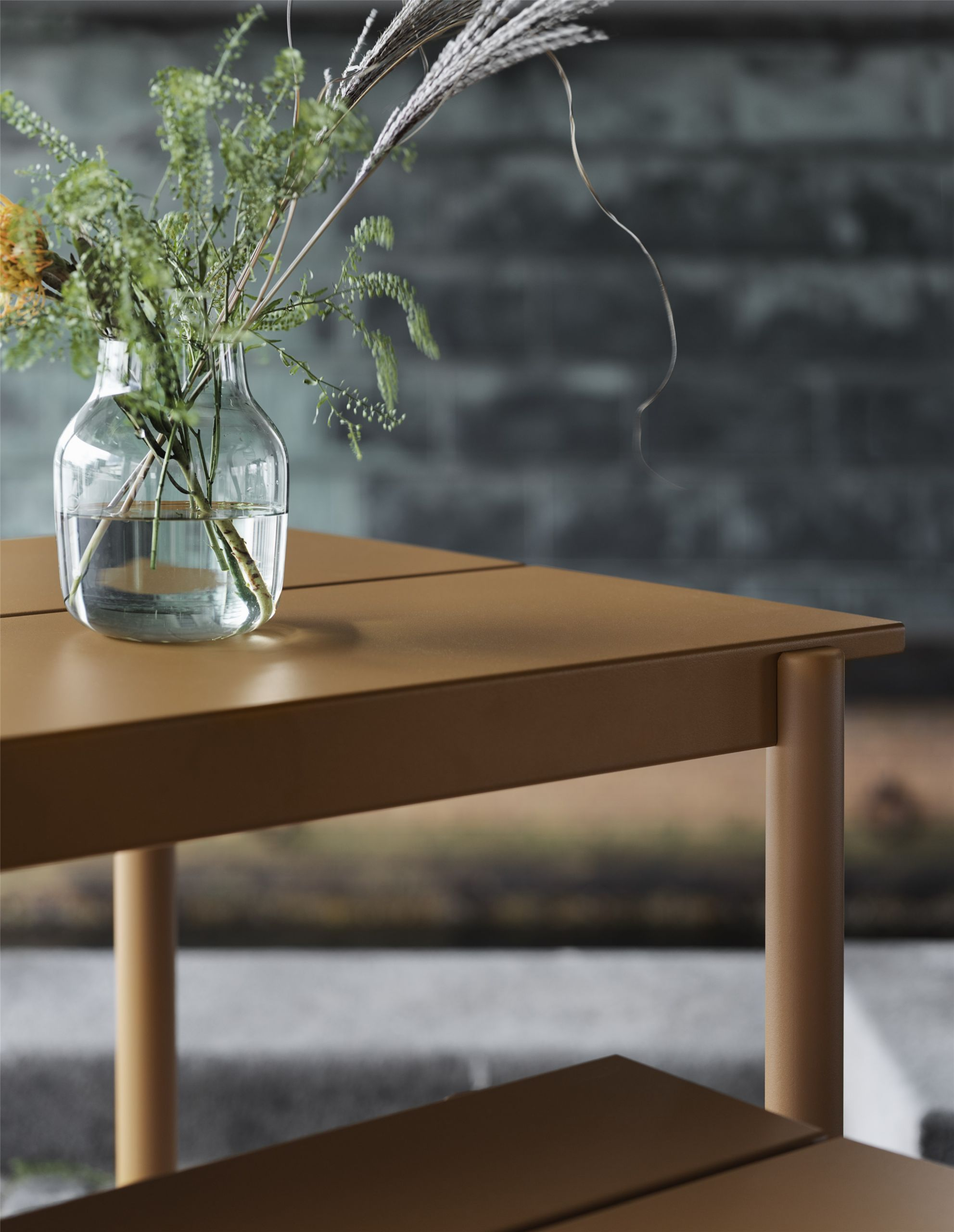 Muuto Linear Steel Table 200 Burnt Orange