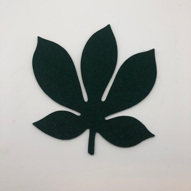 Onderzetter blad chestnut fir green 44
