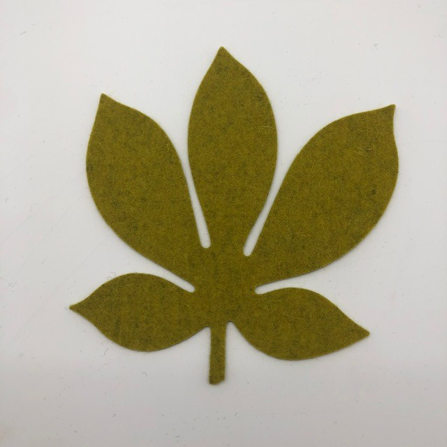 Onderzetter blad chestnut moss 71