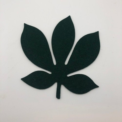 Onderzetter blad chestnut olive 24