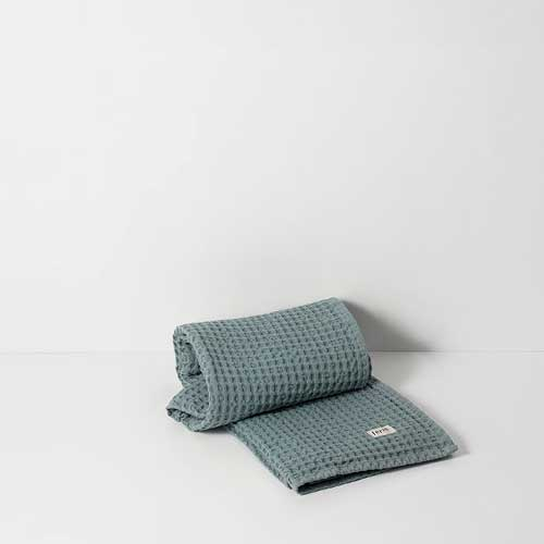 Organic hand towel dusty blue