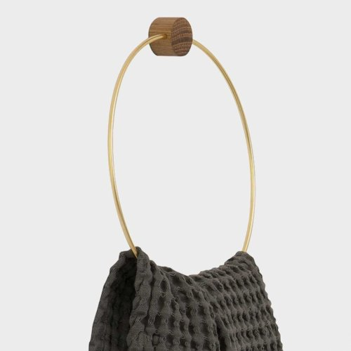towel holder brass