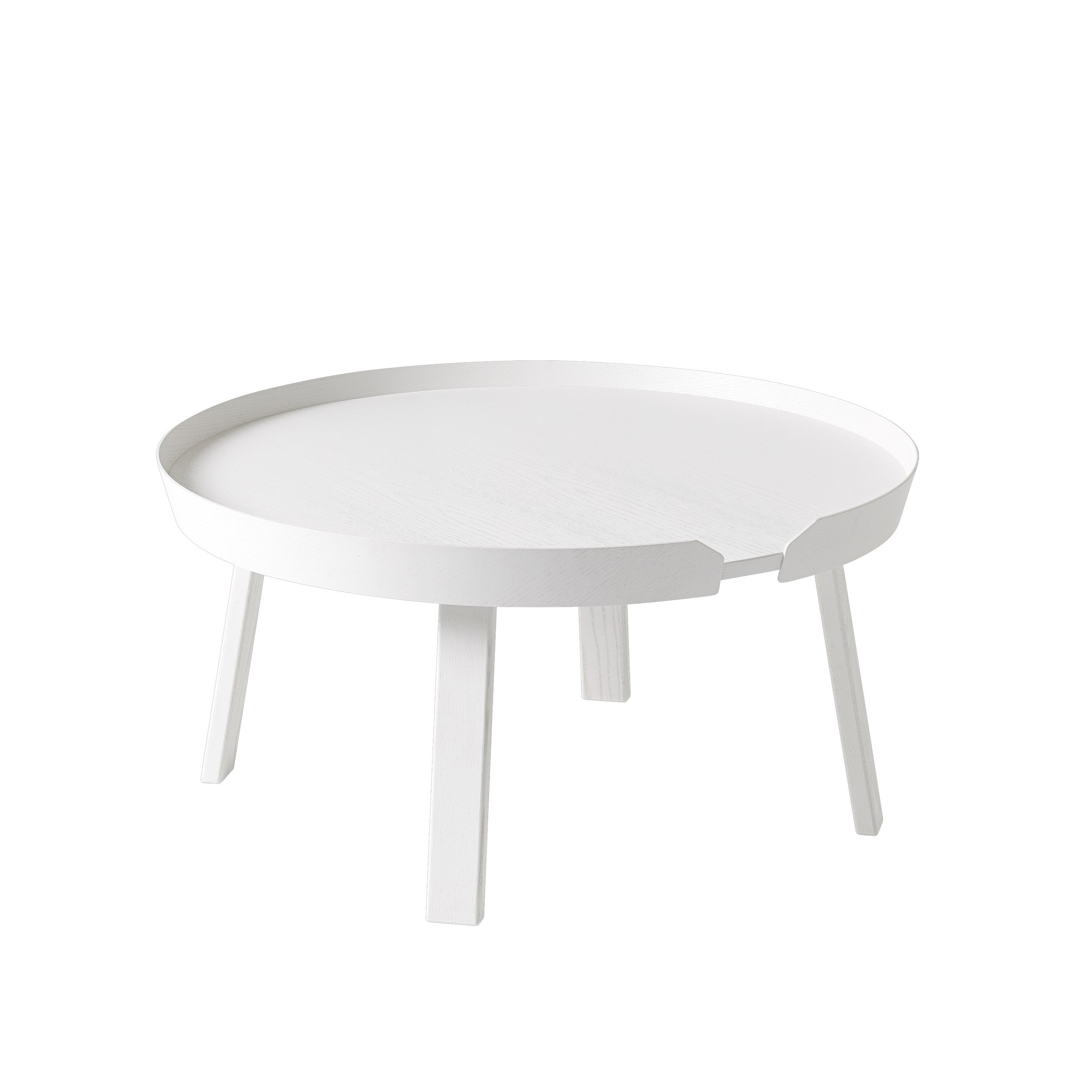 Around coffee table large white