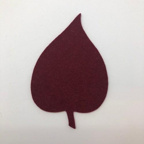 Onderzetter blad linden burgundy 21