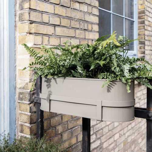 Ferm Living Bau Balcony Box Warm Grey