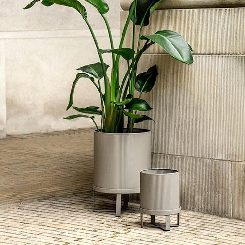 Ferm Living Bau Pot Large Warm Grey