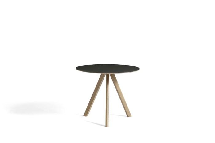 Hay CPH20 Table Round 90 Black Linoleum/Soaped