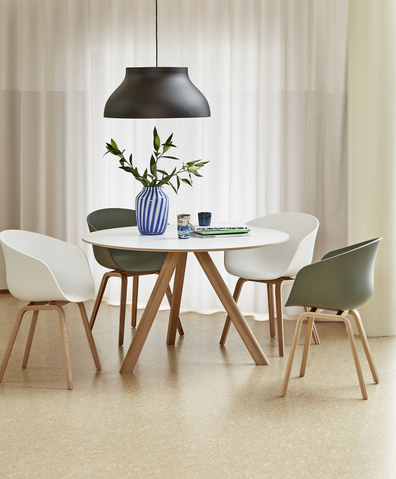 Hay CPH20 Table Round 90 White Laminate/Soaped