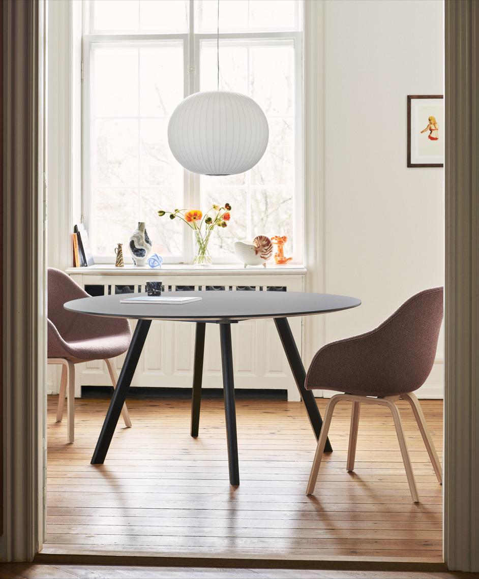 Hay CPH25 Table Round 140 Grey Lino/Soaped