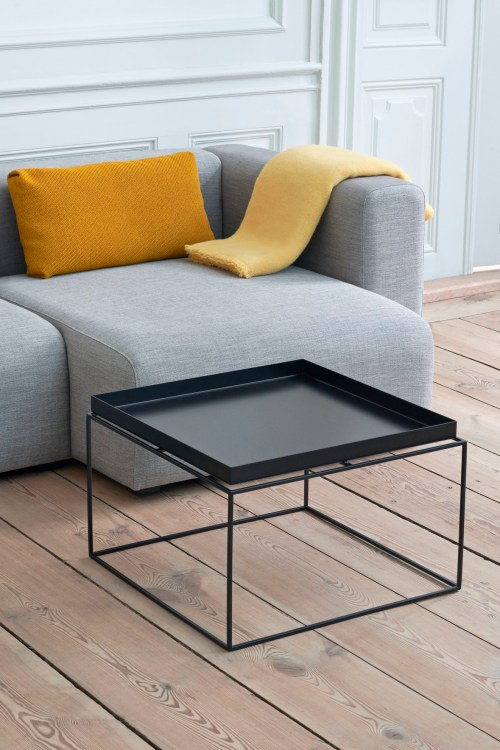 Hay Tray Table Side Table Black