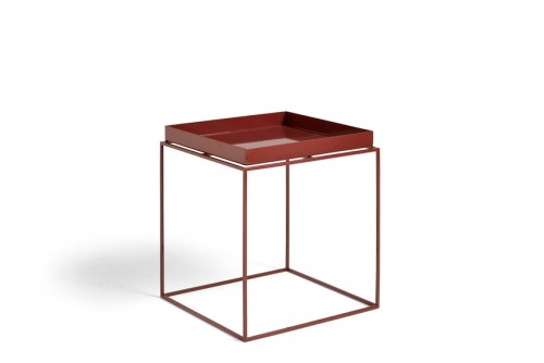 Hay Tray Table Side Table M Chocolate High Gloss