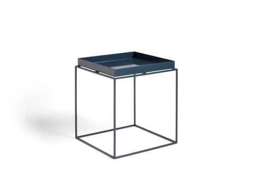 Hay Tray Table Side Table M Deep Blue High Gloss