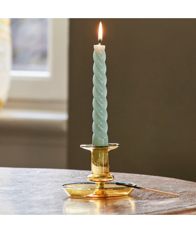 candle twist teal