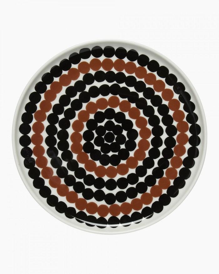 Marimekko Siirtolapuutarha Plate 20cm Black/Brown