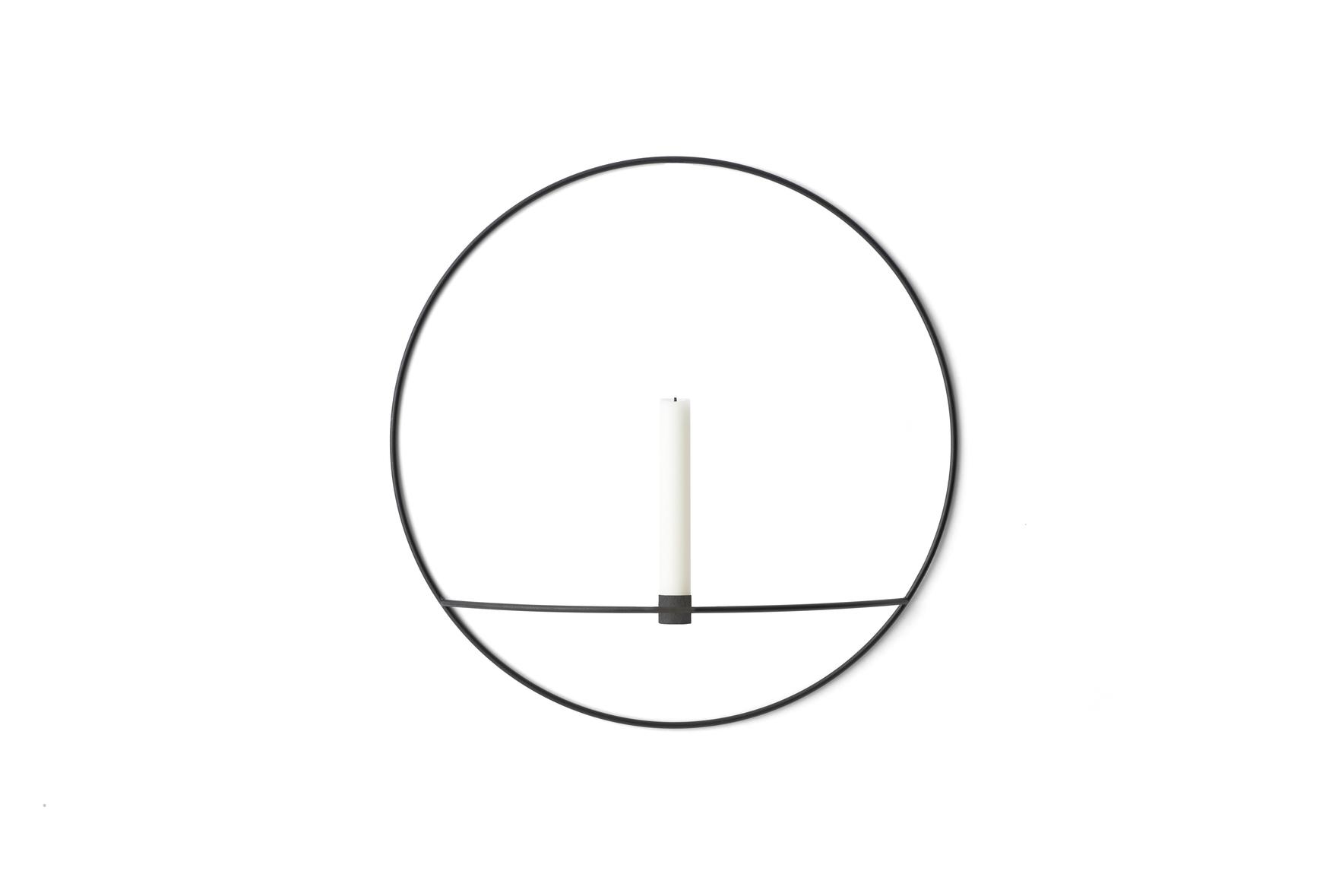 Menu POV Circle Candleholder L Black
