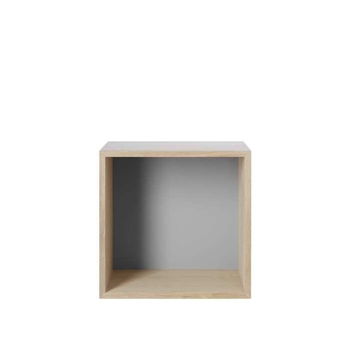 Mini stacked 2.0 medium oak with light grey backboard
