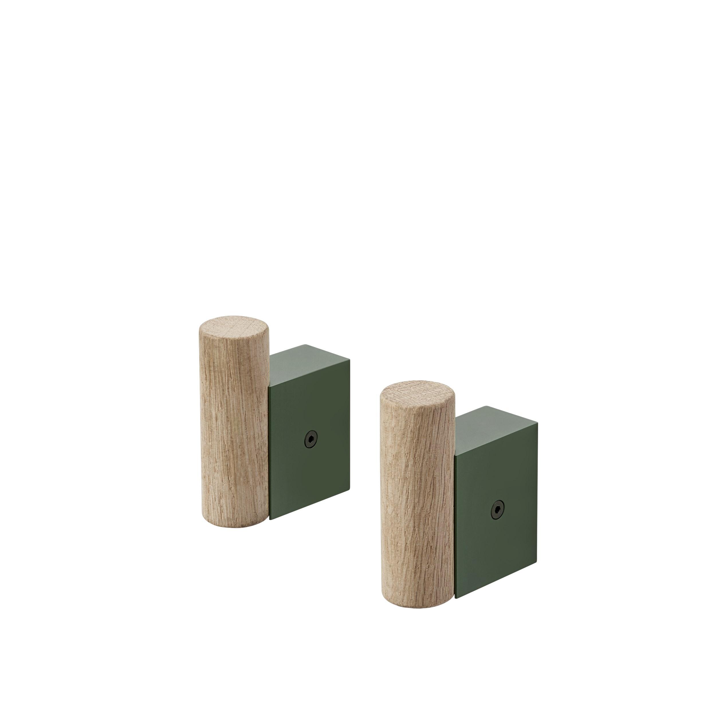 Muuto Attach Coat Hook set 2 dark green
