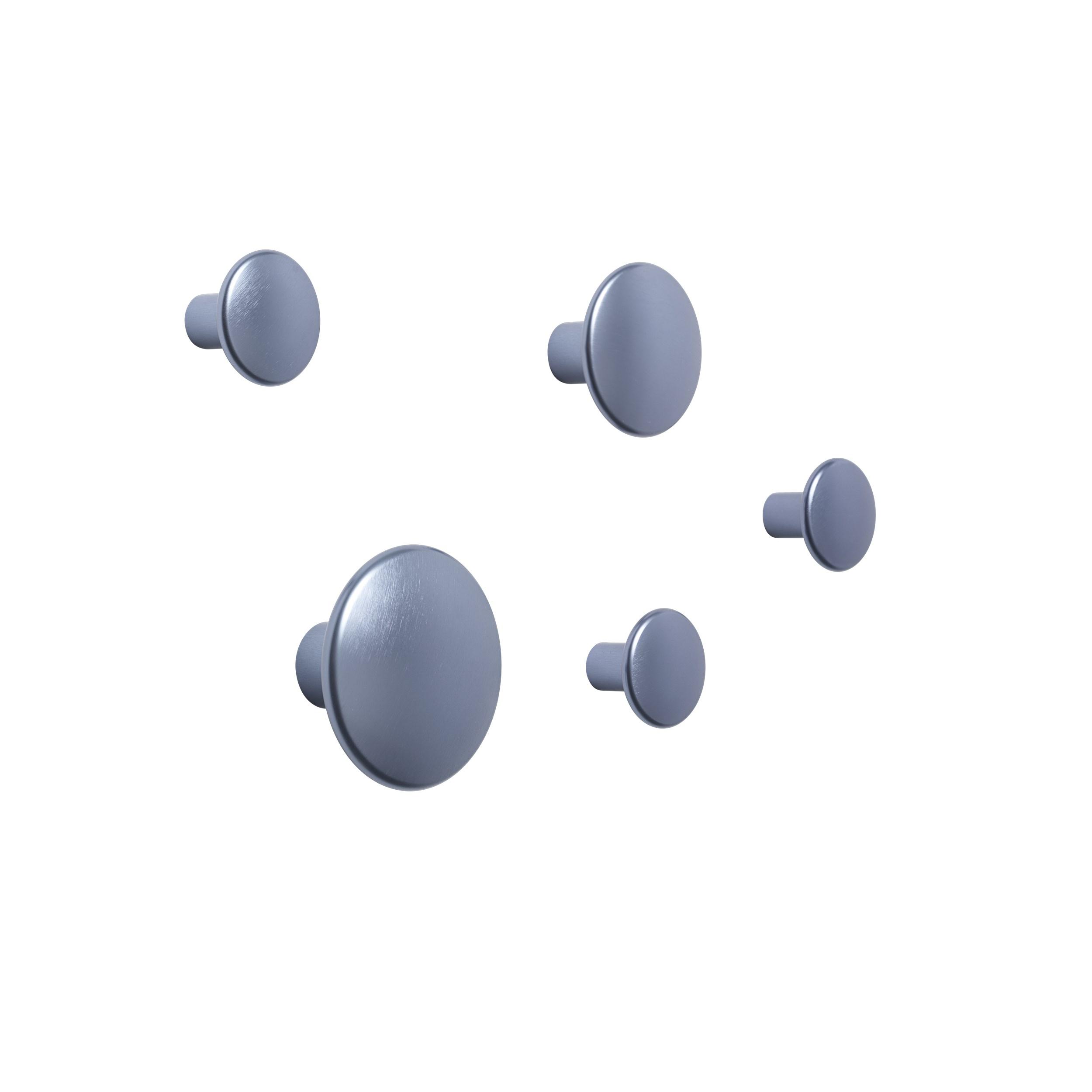 Dots metal set of 5 pale blue
