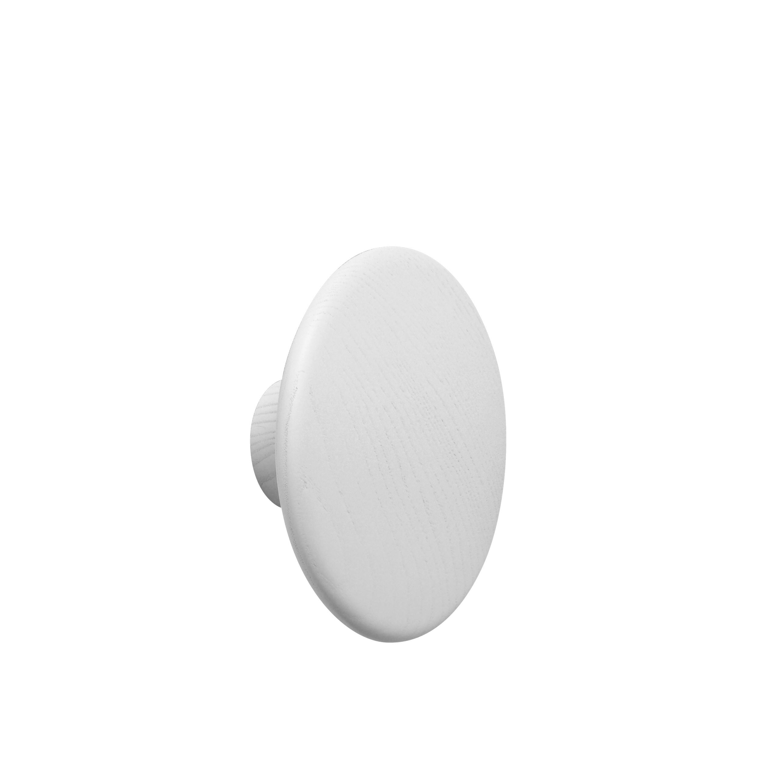 Dot wood large Ø 17 cm white