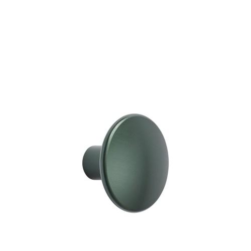 Dots metal medium Ø 3,9 cm dark green