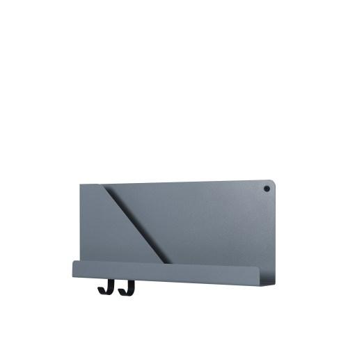 Folded shelf small blue-grey 51cm